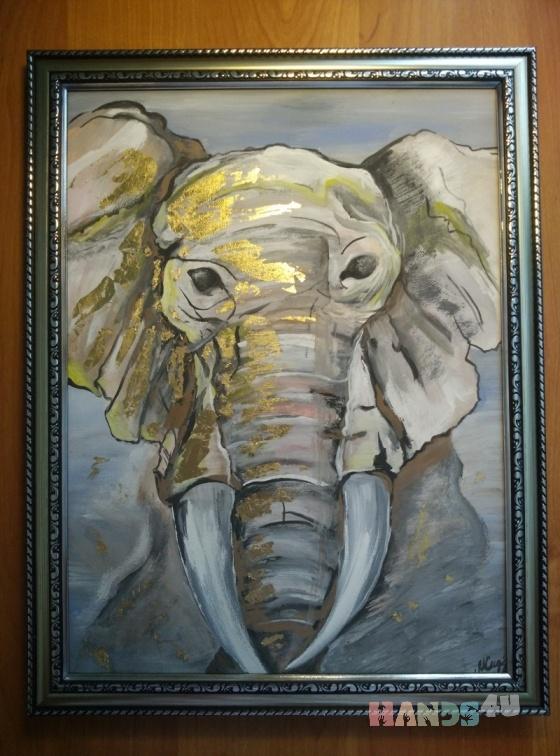 Купить Слон, Животные, Картины и панно ручной работы. Мастер Марина Сидорук (marinaim) .