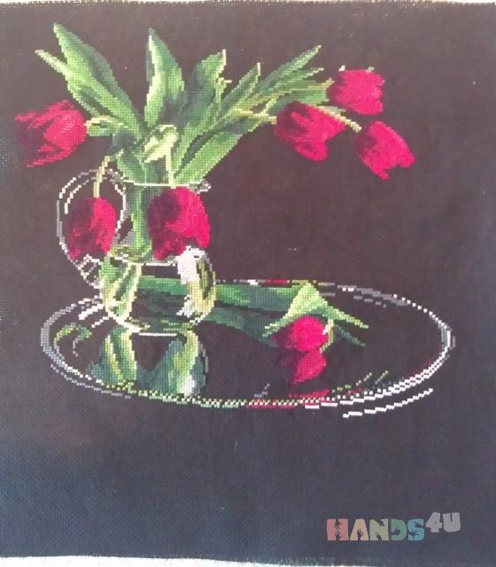 Купить композиция Тюльпаны, Картины цветов, Картины и панно ручной работы. Мастер Татьяна Клемина (strawberrii) .