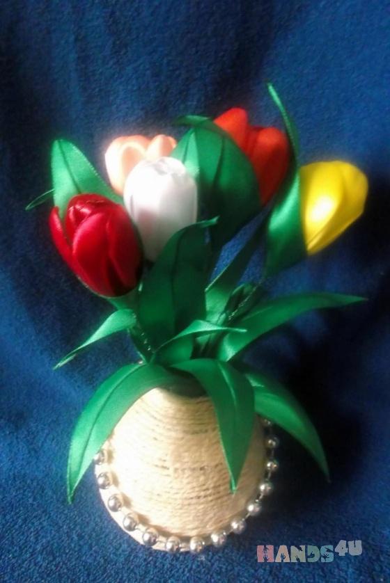 Купить Цветы, Цветы и флористика ручной работы. Мастер Светлана Кислицына (Lanakiss) . атласнве ленты