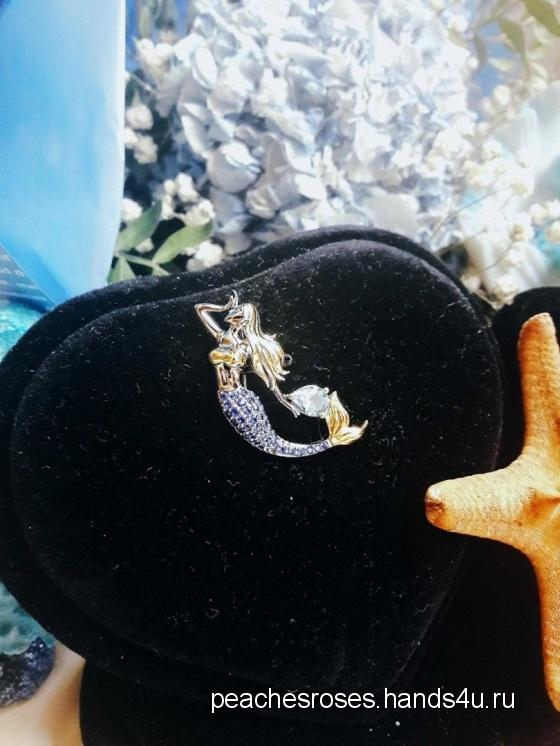 Купить Брошь русалка  Мечты русалки, Полудрагоценные камни, Камни и жемчуг, Броши, Украшения ручной работы. Мастер Roses Peaches (PeachesRoses) . авторская брошь купить