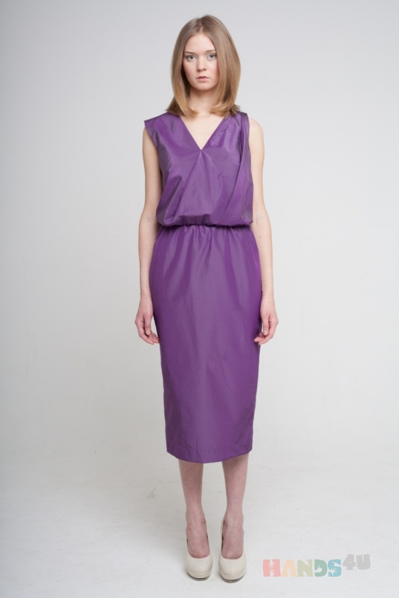 Купить Платье в греческом стиле фиолетовое, Шитые, Повседневные, Платья, Одежда ручной работы. Мастер Оксана ЛИ (sanastudio) . авторское платье