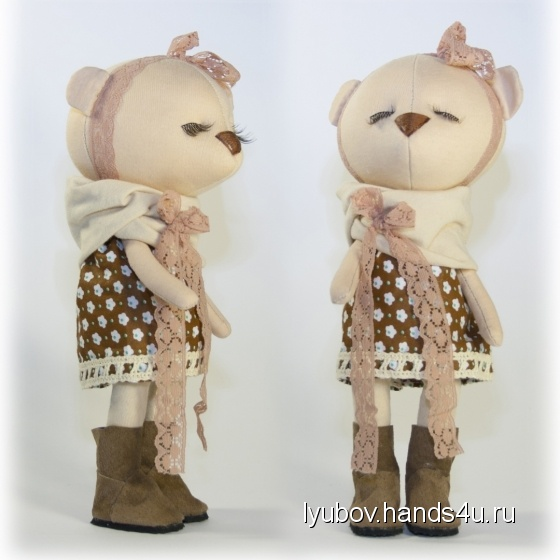 Купить Мишка в коричневом, Мишки, Зверята, Куклы и игрушки ручной работы. Мастер Любовь Свечина (Lyubov) . мишка