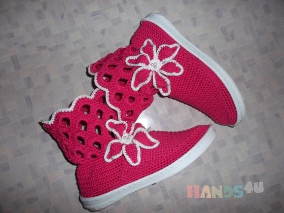 Купить Вязаные ботиночки, Демисезонная обувь, Обувь ручной работы. Мастер Надежда Зыбина (89293221436) . ручная вязка