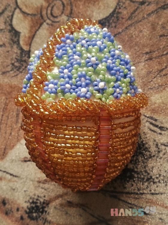 Купить яйцо из бисера, Подарки на Пасху, Подарки к праздникам ручной работы. Мастер   (al678) .