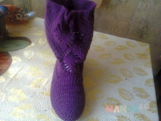 Купить Полусапожки вязанные, Демисезонная обувь, Обувь ручной работы. Мастер Вера Кирсанова (myrzilka) .