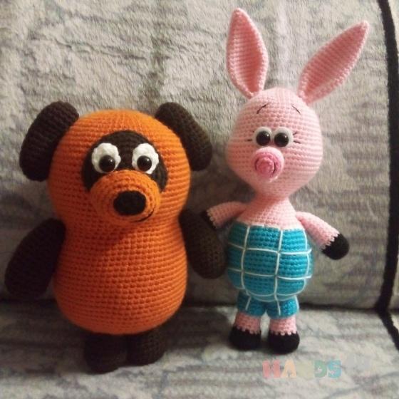 Купить Винни Пух и пятачок, Куклы и игрушки ручной работы. Мастер Эмма Котова (Emma1) .