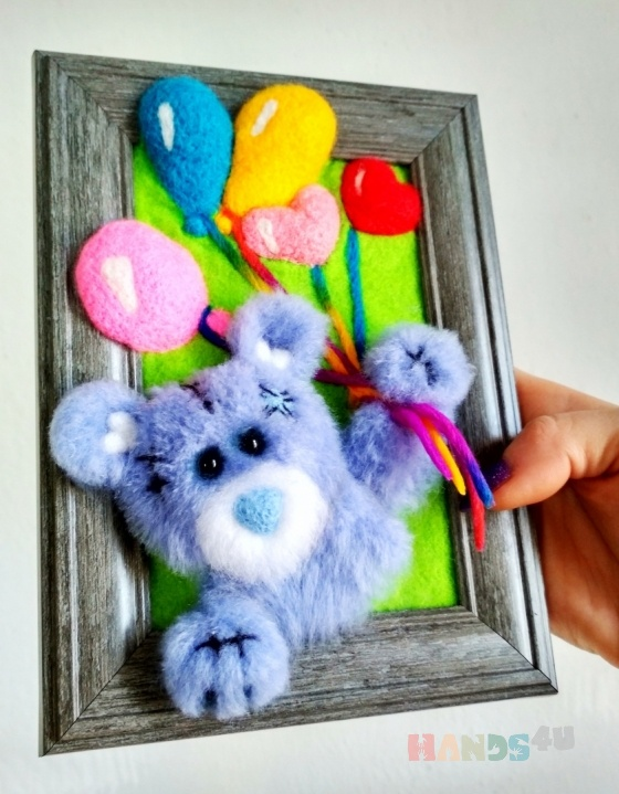 Купить 3д картина Тедди, Животные, Картины и панно ручной работы. Мастер Екатерина Шинкаренко (episton2) . тедди