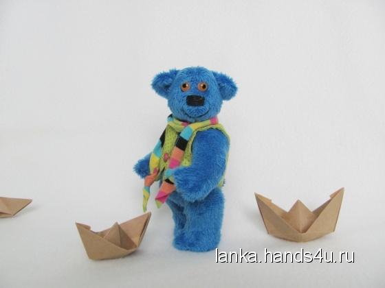 Купить мишка КапЕлька, Мишки, Мишки Тедди, Куклы и игрушки ручной работы. Мастер Светлана Паршукова (Lanka) . синий