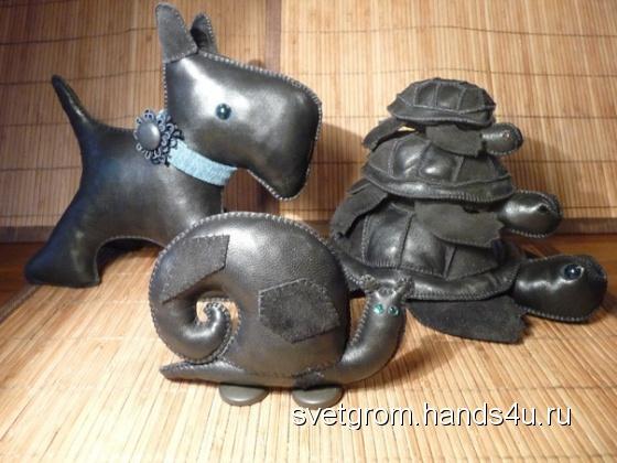 Купить игрушки из кожи, Куклы и игрушки ручной работы. Мастер Светлана Громова (SvetGrom) . кожа натуральная