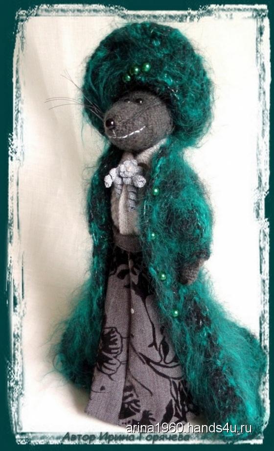Купить Коллекционная кукла - Крыса Серафима, Мыши, Зверята, Куклы и игрушки ручной работы. Мастер Ирина Вениаминовна Горячева (arina1960) . крыса