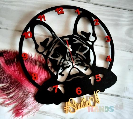 Купить Часы деревянные Французский бульдог , Часы для дома, Для дома и интерьера ручной работы. Мастер Натали Рыбка (StudioN) . большие настенные часы