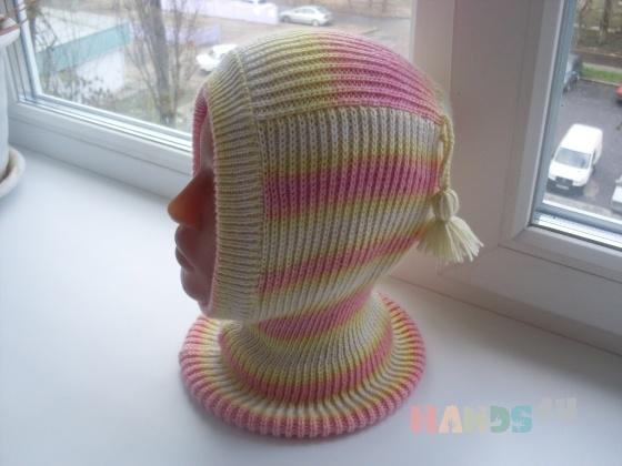 Купить Шапочка-шлем меланжевая, Шапочки, шарфики, Одежда унисекс, Работы для детей ручной работы. Мастер   (Olga300476) . шапочка-шлем
