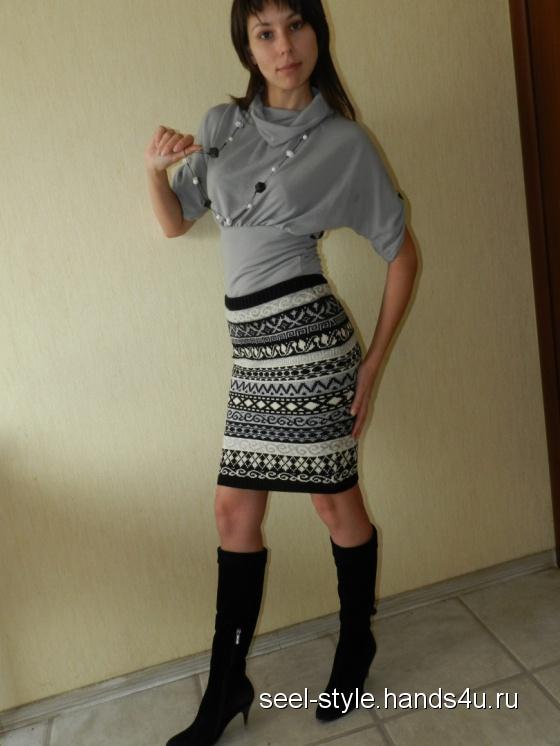 Купить юбка Полосы жаккарда, Вязаные, Юбки, Одежда ручной работы. Мастер Елена Семенова (SeeL-style) . юбка