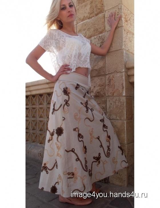 Купить Льняная длинная юбка Nature, Шитые, Юбки, Одежда ручной работы. Мастер Лариса Коган (image4you) . юбка длинная