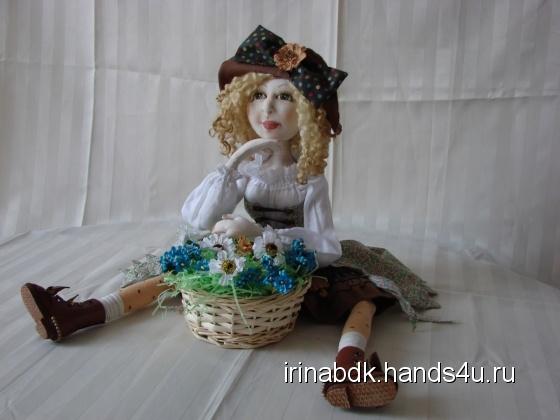 Купить Цветочница Анюта, Текстильные, Коллекционные куклы, Куклы и игрушки ручной работы. Мастер Ирина Бадюкова (Irinabdk) . интерьерная кукла