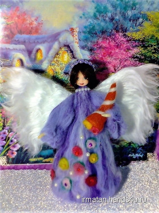 Купить Интерьерная игрушка Ангел изобилия, Войлочные, Коллекционные куклы, Куклы и игрушки ручной работы. Мастер irma  (irmatan) . ангел