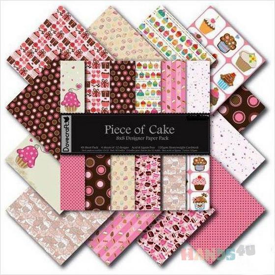 Купить Набор бумагиPiece Of Cake, Промышленная, Бумага, Открытки и скрапбукинг ручной работы. Мастер Нина Викторова (nina) .