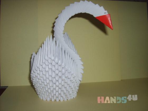 Купить Лебедь, Сувениры и подарки ручной работы. Мастер Светлана Залужская (sveta-1979) . оригами