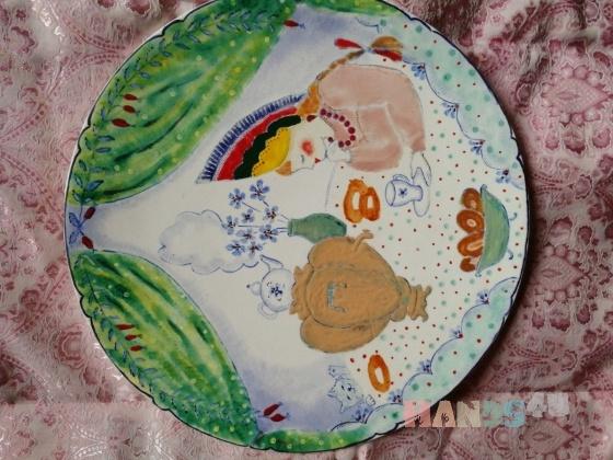 Купить Тарелка навесная, Для дома и интерьера ручной работы. Мастер Леля Lelya (Lelik-2021) . декоративная тарелка