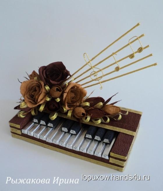 Купить Букет из конфет  Пианино, Букеты из конфет, Букеты, Цветы и флористика ручной работы. Мастер Ирина Рыжакова (lopuxow) .