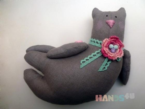 Купить Летящий котик с сердечком, Куклы Тильды, Куклы и игрушки ручной работы. Мастер Нафсет Кокенко (Nafset) . игрушка кот