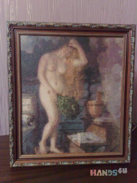 Купить русская венера копия картины кустодиева, Люди, Картины и панно ручной работы. Мастер марина веселкина (marlen) . вышивка крестиком