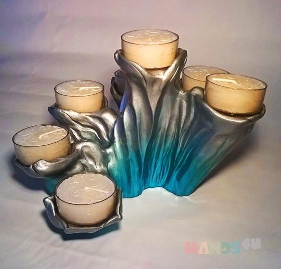 Купить Подсвечник на семь свечей, Подсвечники, Для дома и интерьера ручной работы. Мастер Любовь Сечина (ArmaSavi) . подсвечник