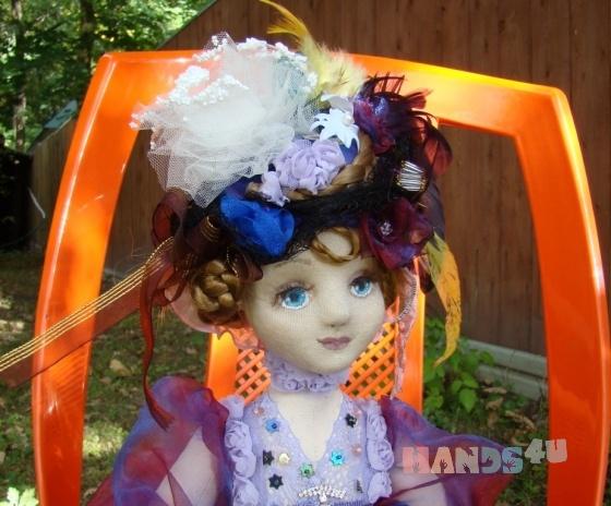 Купить Незнакомка интерьерная кукла, Текстильные, Коллекционные куклы, Куклы и игрушки ручной работы. Мастер Елена Минаева (elemina) .