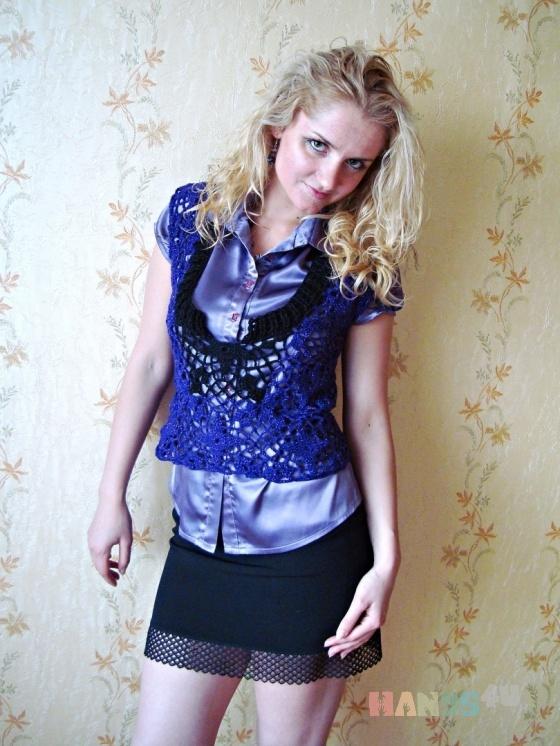 Купить Жилет женский, Вязаные, Жилеты, Одежда ручной работы. Мастер Софья Кровякова (Gesperida) . ажурный жилет