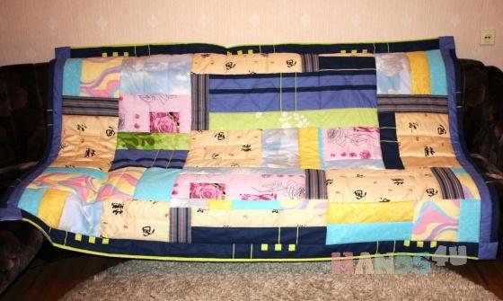 Купить Лоскутное одеяло Мозаика, Лоскутные, Пледы и покрывала, Текстиль, ковры, Для дома и интерьера ручной работы. Мастер Фаина Гаврилова (gavr57faina) . лоскутное одеяло