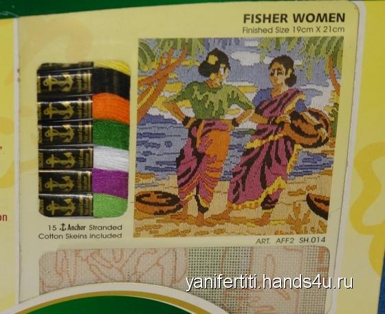 Купить Набор для вышивания Женщины-рыбаки, Промышленные, Наборы для вышивания, Вышивка ручной работы. Мастер Анастасия Федотова (yanifertiti) . вышивка