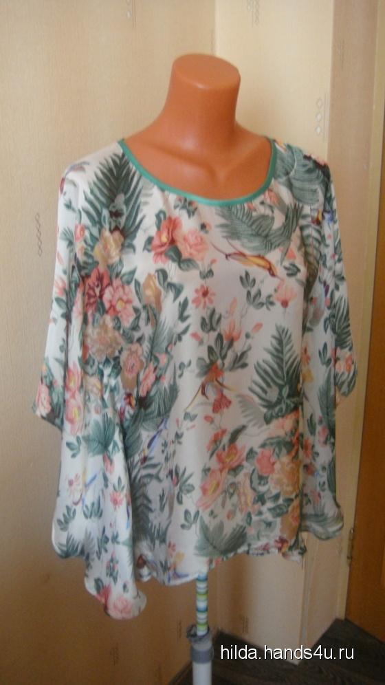 Купить блузка из нежнейшего шифона, Блузки, Одежда ручной работы. Мастер Елена Воронина (hilda) . блуза летняя