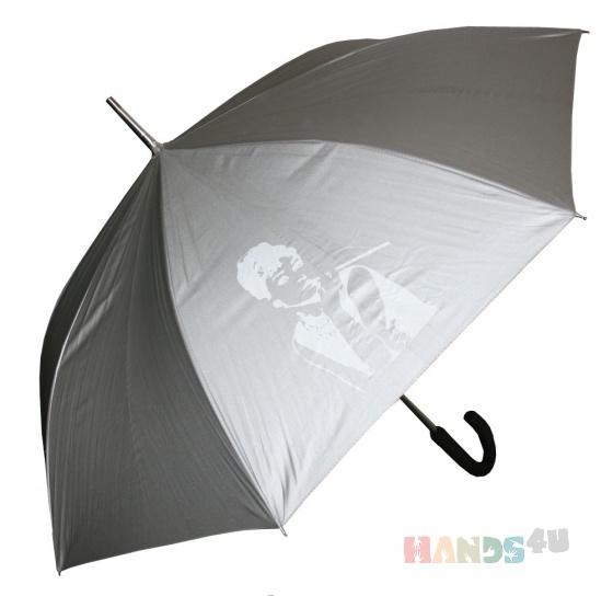 Купить Серебрянный зонт с принтом Одри Хепберн, Зонты, Аксессуары ручной работы. Мастер   (mustang) . одри хепберн