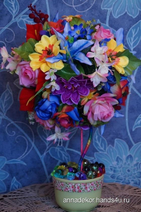 Купить Бал Цветов, Топиарии, Цветы и флористика ручной работы. Мастер Анна Пономарева (ANNADEKOR) . объем