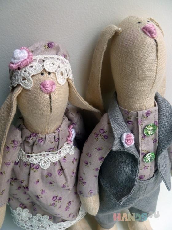 Купить Уютная зайка с другом, Зайцы, Зверята, Куклы и игрушки ручной работы. Мастер Нафсет Кокенко (Nafset) .