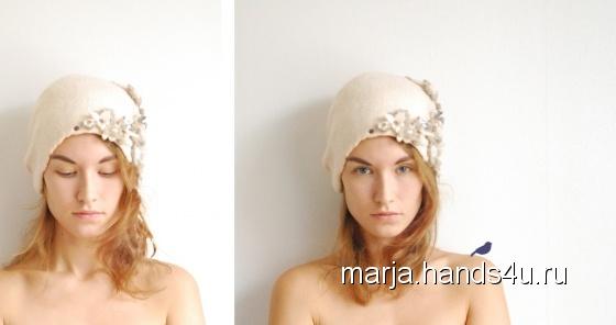 Купить шапка цвета молока, Шапки, Головные уборы, Аксессуары ручной работы. Мастер марья синькова (marja) . белый
