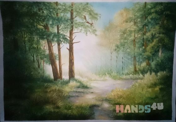 Купить Утро в лесу, Пейзаж, Картины и панно ручной работы. Мастер Татьяна Солодова (sweetwood) . акварельная бумага