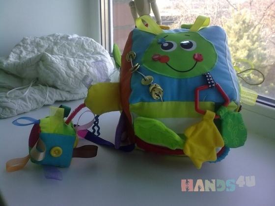 Купить Развивающий кубик, Куклы и игрушки ручной работы. Мастер Полина Беляева (PolinaFyrtad) . кубик