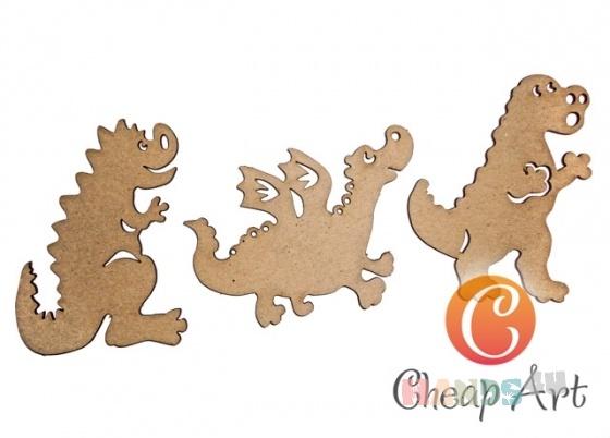 Купить Декоративный элемент Дракончики (3 шт), Промышленные, Декоративные элементы, Декупаж и роспись ручной работы. Мастер   (cheap-art) .