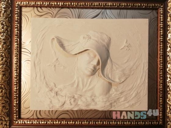 Купить Картина-панно ВЕСНА, Люди, Картины и панно ручной работы. Мастер Любовь Гусева (ludov) . панно-барельеф