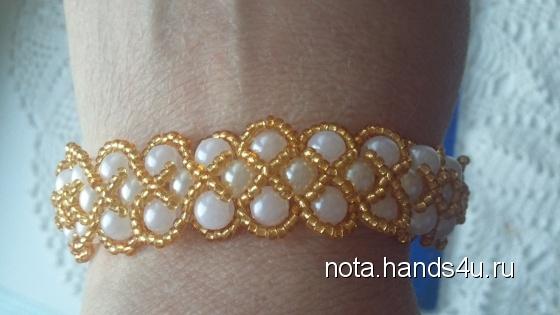 Купить  Бижутерия браслет, Плетение, Бисер, Браслеты, Украшения ручной работы. Мастер Natalya Sedova (Nota) . бисер preciosa