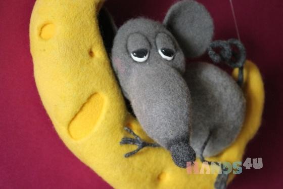 Купить Мечты сбываются))), Мыши, Зверята, Куклы и игрушки ручной работы. Мастер   (Katerinka) . валяная мышь