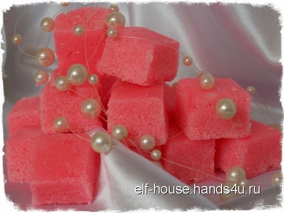 Купить Сахарный скраб для тела Вишневое наслаждение, Скраб, Косметика ручной работы. Мастер Ирина Литвинова (Elf-House) .