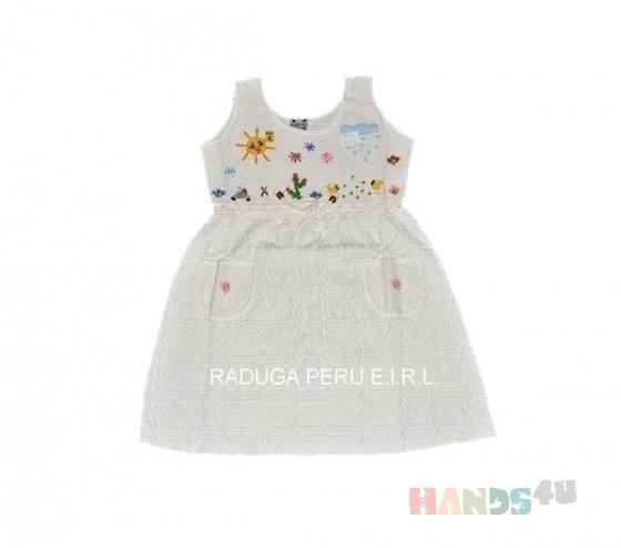 Купить Платье для девочки из органического хлопка, Платья, Одежда ручной работы. Мастер Даниель Рамирес (arcoiris) . органический хлопок