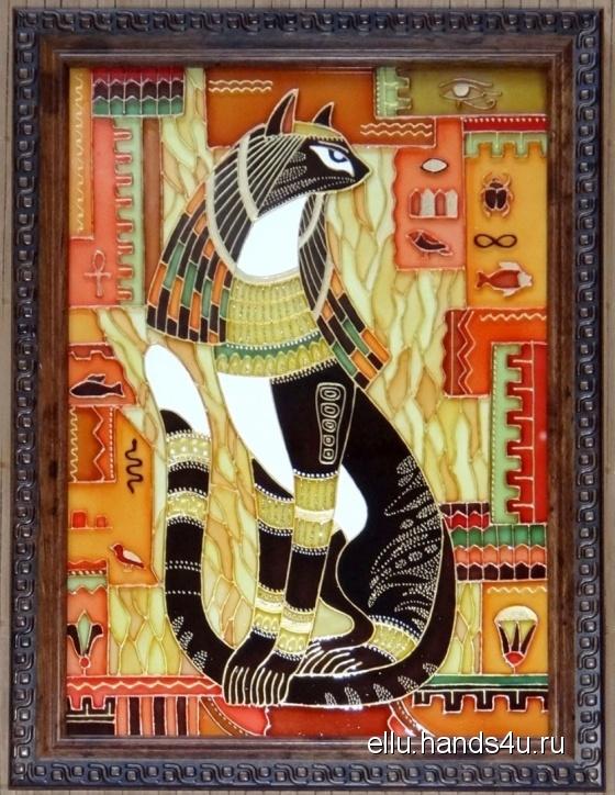 Купить Витражная картина Царица Египта, Стекло, Этно, Картины и панно ручной работы. Мастер Ирина  (ellu) . витраж