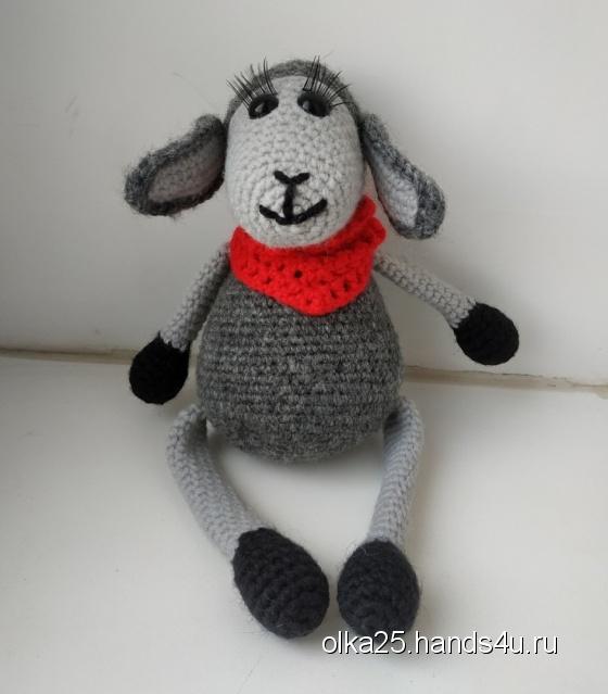 Купить Вязаная овечка, Другие животные, Зверята, Куклы и игрушки ручной работы. Мастер Ольга Ершова (olka25) .