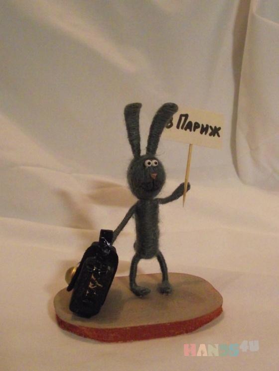 Купить Зайка путишествиница, Смешанная техника, Миниатюра, Куклы и игрушки ручной работы. Мастер Наталья Жебрунова (tasha) .