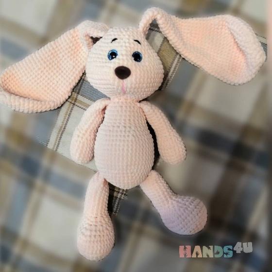 Купить Зайка, Зайцы, Зверята, Куклы и игрушки ручной работы. Мастер Дарья Гайдамак (GaydamakDS) . вязаный заяц