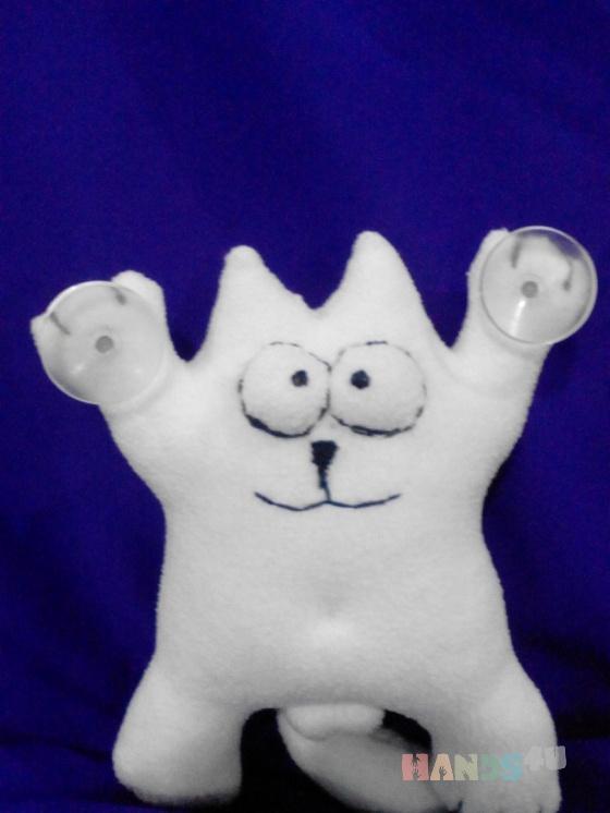 Купить кот Саймона, Коты, Зверята, Куклы и игрушки ручной работы. Мастер Ольга Красницкая (krasoliadoll) . белый кот