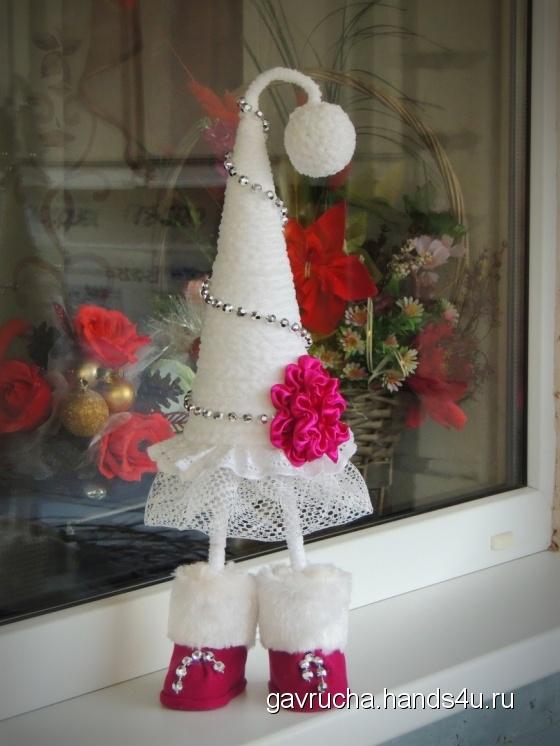 Купить Топотуша-георгин, Новогодние елки, Новый год, Подарки к праздникам ручной работы. Мастер Ольга Кожухова (Gavrucha) .